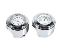 Часы и термометр для мотоцикла белый циферблат (водонепроницаемые, ударопрочные)