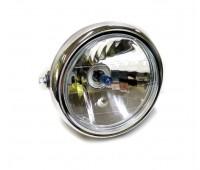 Фара на мотоцикл 190 мм кругла велика (лампа синя галогенка)