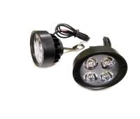 LED фары на 4 диода с креплением на зеркала (к-т 2 штуки)