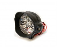 LED фара 6 диодов, капля черная