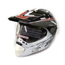 Кроссовый шлем (мотард) Нelmo Monster CR-188 чёрный с красным, размер L