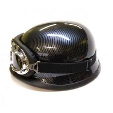Мотокаска немецкая карбон с очками MoтоTech, размер M