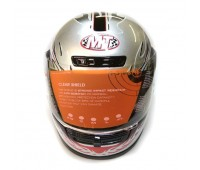 Мотошлем интеграл MoтоTech  WLT-106 серый размер L