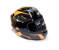 Шлем интеграл QKE 111 черно-оранжевый (тонированное стекло), размер L