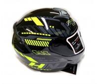 Шлем интеграл HNJ-902 черно-желтый (тонированное стекло), размер M