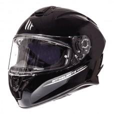 Мотошлем MT Targo Solid Black Gloss, размер XXL