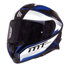 Мотошлем MT Targo  Interact White-Black-Blue, размер M