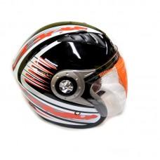 Мотошлем без челюсти Z-122 серебро