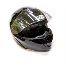 Мотошлем с подъемной челюстью и очками HF-119 черный, размер М
