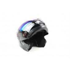 Мотошлем с подъемной челюстью  MoтоTech HF-108 черный, размер M