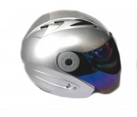 Мотошлем без челюсти MoтоTech HF-210 серебро, M