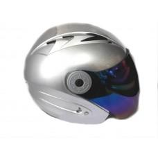 Мотошлем без челюсти MoтоTech HF-210 серебро, размер S
