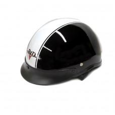 Мотокаска BLD 150 черная с белой полосой, размер S