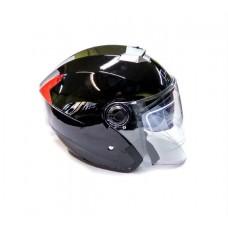 Открытый шлем LSG-858 с очками, черный глянцевый, размер S-M