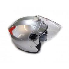Открытый шлем LSG-858 с очками, серебро, размер S-M