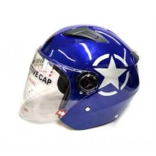 Открытый шлем David D-017 синий, размер М