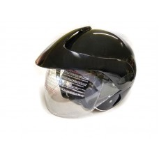 Шлем без челюсти с козырьком черный, размер  XS