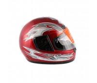 Шлем  интеграл  красный