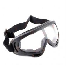 Мотоочки кроссовые Vega MJ-302 чёрные, белое стекло