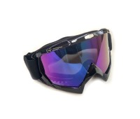 Мотоочки кроссовые Vega MJ-100 чёрные, тонированное стекло