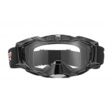 Мотоочки кроссовые VEMAR VM-1015 чёрные, белое стекло