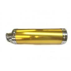 """Прямоток на скутер (глушитель прямоточный) """"золото"""", 340*90мм"""