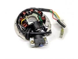 Статор генератора на скутер Yamaha Jog 3KJ (6+1 катушек, 3+2 контакта)