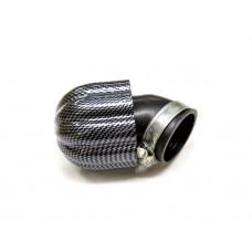 """Фильтр нулевого сопротивления """"Карбон"""" d=42 мм (угол 45 градусов)"""
