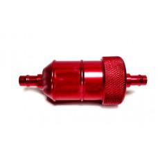 Фильтр топливный  на мотоцикл разборной красный