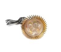 """Светодиодная подсветка """"Led фара"""" золото (3 диода с радиатором) JC-956"""