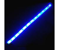 Світлодіодна стрічка 12 вольт, 30см \ 32 діода 8016 синє світло