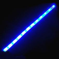 Светодиодная лента 12 вольт, 30см\32 диода 8016  синий свет