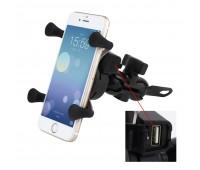 Тримач телефону на кермо + USB-роз'єм