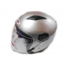 Шлем для скутера с очками OF-512 серебро, размер M