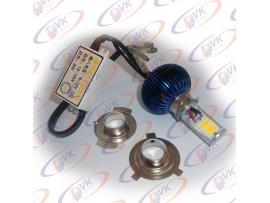 Лампа диодная в фару универсальная  12В 8W/16W,  2 кристалла