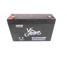 Мото аккумулятор  6В 12А   Jump 6NF7 клемы штекер
