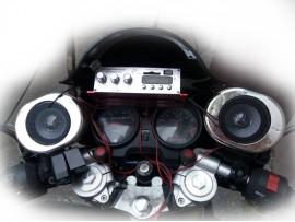 Мото колонки на мопед, скутер, мотоцикл, колір хром (к-т 2 штуки)