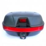 Кофр для скутера  LX-2001 черный матовый (съемный, на 2 шлема)