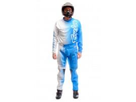 Мотокостюм кросовий Fox біло-блакитний, розмір XL / 38