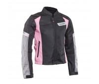 Мотокуртка женская Rock Biker черно-розовая, размер M