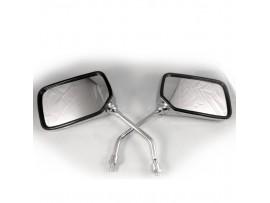 Зеркала на скутер  8 мм прямоугольные хромированные