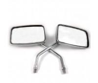 Мото зеркала 10 мм квадратные на мотоцикл Иж, МТ хроммированные