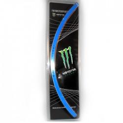 """Наклейки на диски """"  Монстр  """" (обод 16-17''), голубые"""