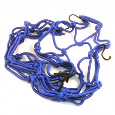 Багажная сетка паук на мотоцикл 40*40,  синяя