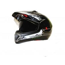 Кроссовый шлем мотард  FF-103 Monster чёрный, размер L