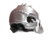 "Каска ""Череп"" двухсторонняя серебро, (со съемным козырьком), размер L"