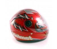 Детский мотошлем интеграл MoтоTech LY-909, красный, размер М