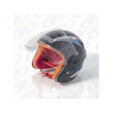 Детский мотошлем открытый  MoтоTech  LY-906, размер M черного цвета