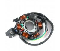 Статор генератора на скутер GY6-125 (5 + 1 котушки, 3 + 2 контакту)