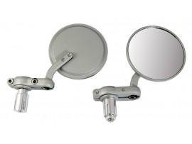 Зеркала в руль мотоцикла, цвет серебро (к-т 2 штуки)